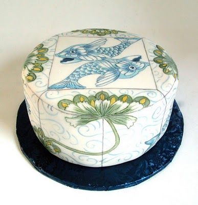 hand-painted cake.