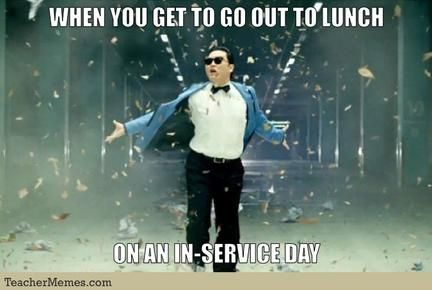 Haha! In Service Training tomorrow!!! Can't believe the school year is here already! Back at it! #ilovemyjob #inservicetomorrow #itstimetorockandroll
