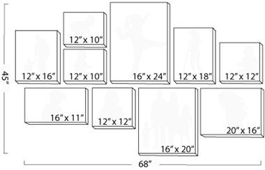 Canvas Wall Displays-order pro here or use as reference for DIY