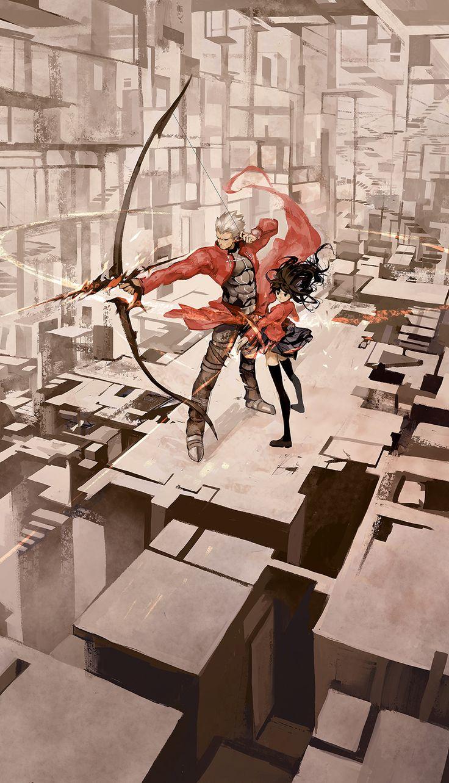 Archer & Tohsaka Rin | Fate/stay (Hanyijie - http://www.weibo.com/hanyijie) #anime