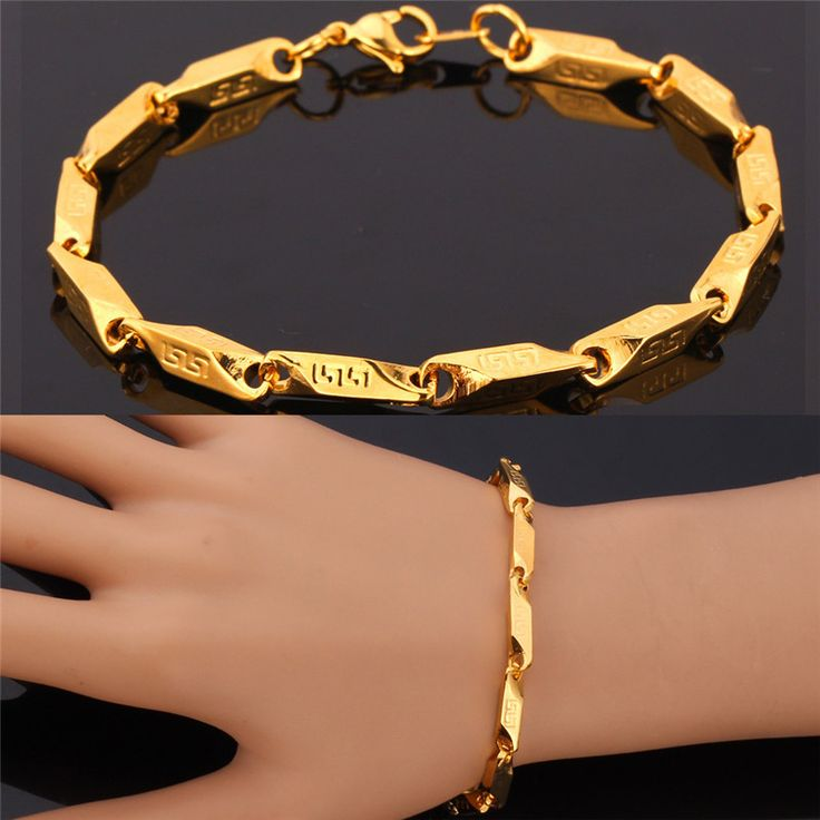 Cheap bracelet roots, Buy Quality bracelet directly from China bracelet modern Suppliers:                             Stainless Steel Bracelet 316 Stamp / 18K Real Gold Plated 18K Stamp Trendy 21 cm Unique