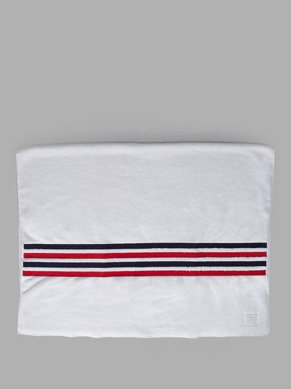 THOM BROWNE Thom Browne Men'S White Towel. #thombrowne #objects