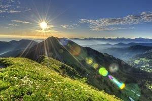 Sunrise, Mount Hochgrat ©Naturpark Nagelfluhkette/Oberstaufen Tourismus