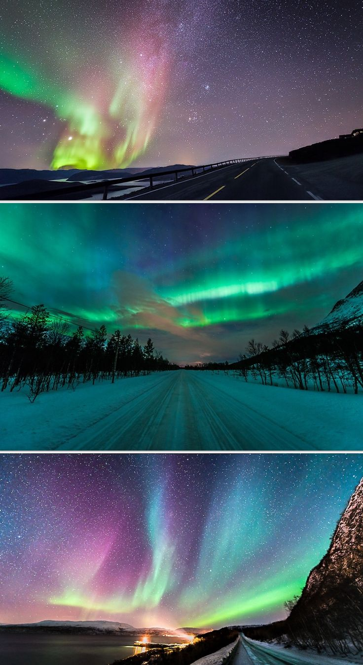 The Northern Lights, one of the seven natural wonders of the world :)    /  Beautiful EL.