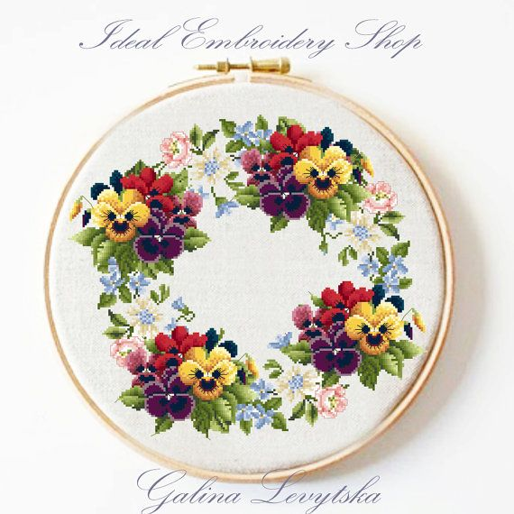 Cross stitch pattern Flowers 3 PDF pattern by IdealHandEmbroidery