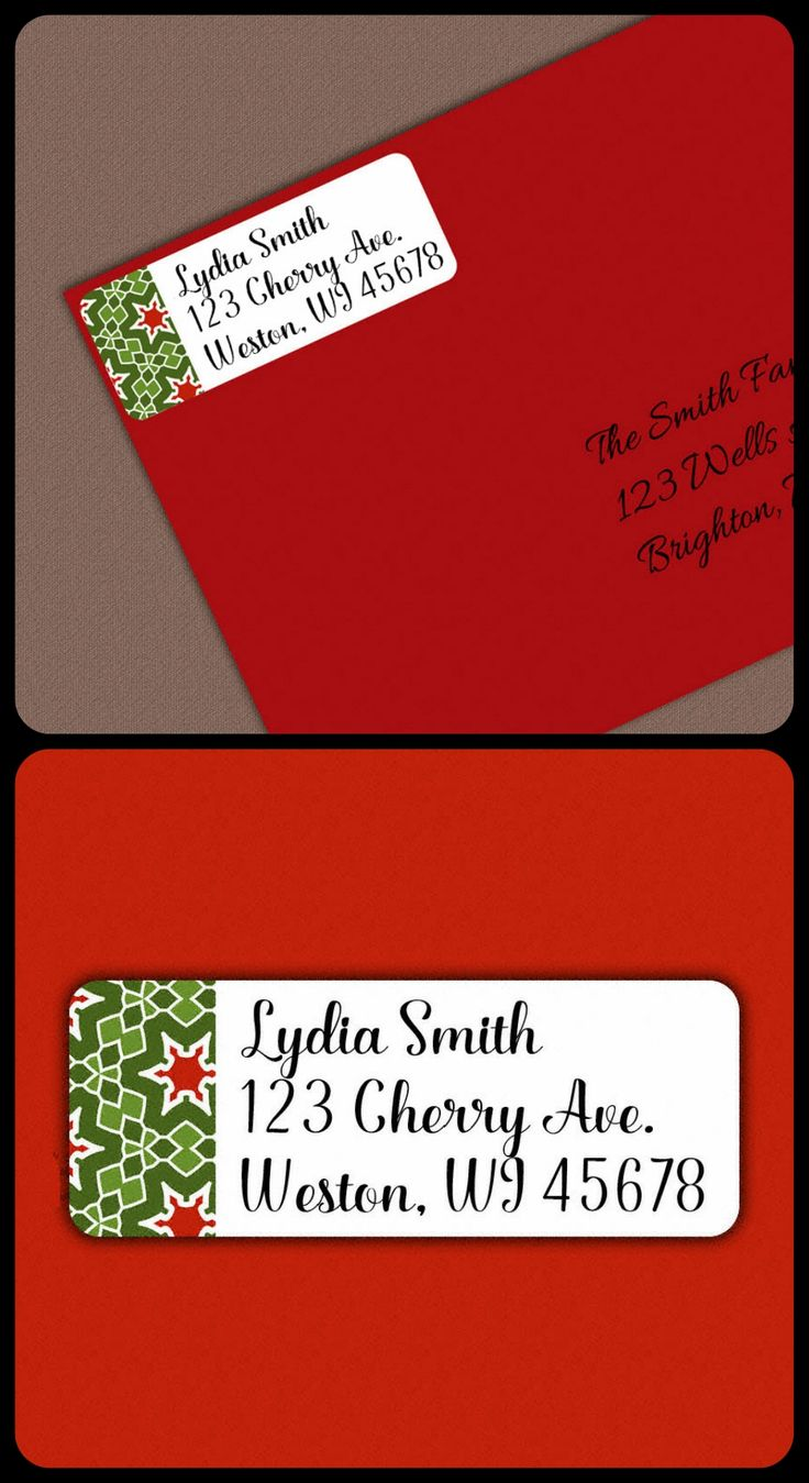 Best  Christmas Address Labels Ideas On   Print