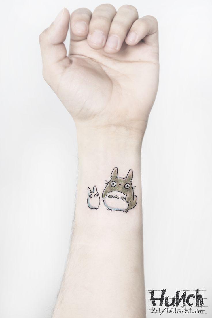 https://www.facebook.com/hunchartstudio #totoro #miyazaki #tattoo #watercolor