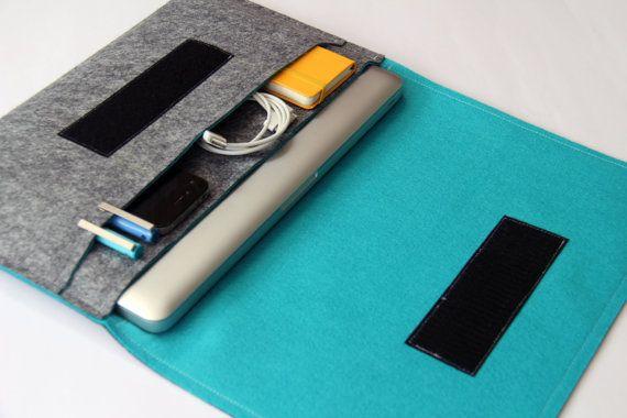 13 inch Apple Macbook Pro laptop Organizer Case by WeirdOldSnail, $48.00