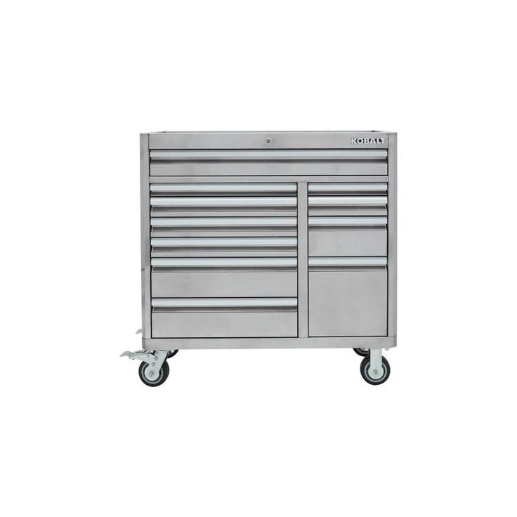 Kobalt 3000 41 In W X 41 In H 11 Drawer Stainless Steel Rolling Tool Cabinet Stainless Steel Lowes Com Stainless Steel Tools Soft Close Drawer Slides Tool Cabinet