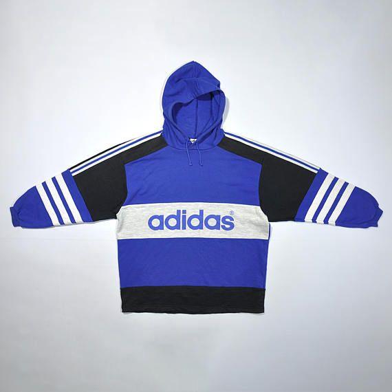 Vintage ADIDAS Hoodie Sweatshirt Sweater Retro ADIDAS