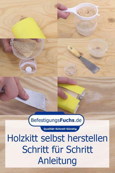 Making wooden putty yourself – how it's done – BefestigungsFuchs