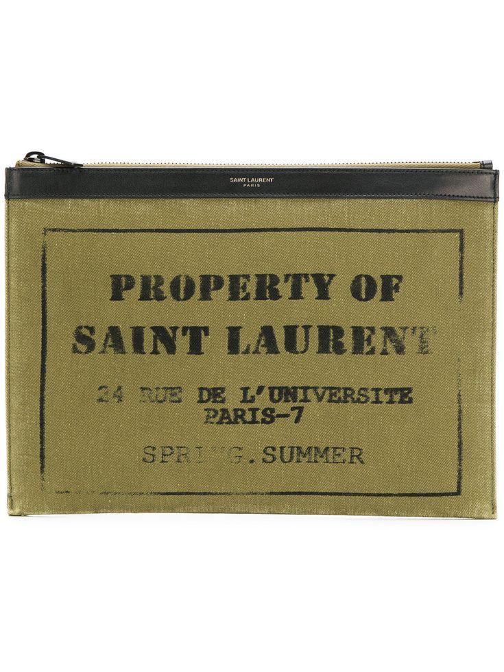 SAINT LAURENT . #saintlaurent #bags #leather #clutch #cotton #hand bags #