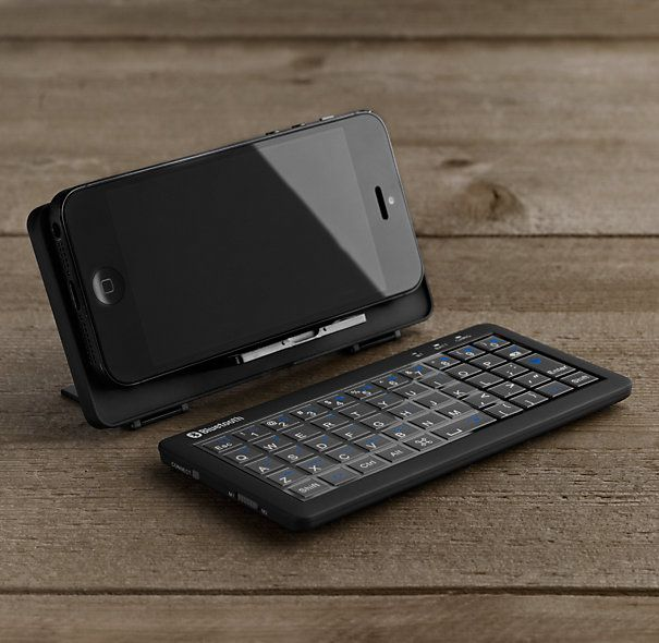 """Universal Bluetooth® Mini Keyboard Know a social-media savvy person who spends all their time on their phone? This is the answer to your """"perfect gift"""" prayers."""