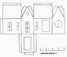 Little Glitter Houses Pattern | You may print the structure patterns on any sort of paper, since you ...