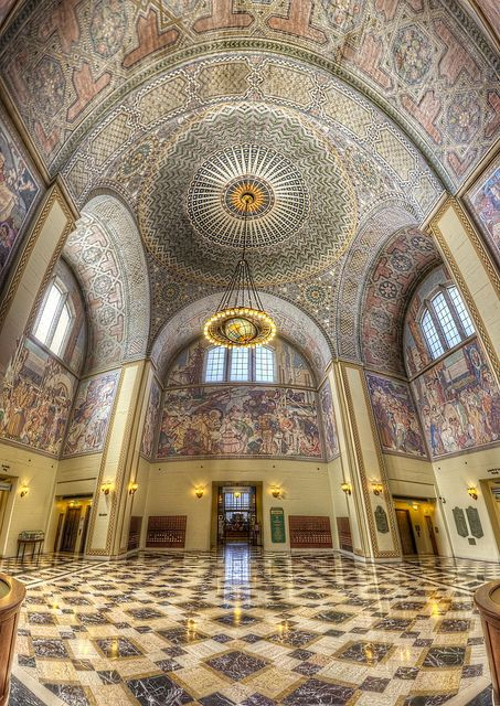 Los Angeles Central Library Rotunda, West 5th St., Los Angeles, California by Candace Montgomery