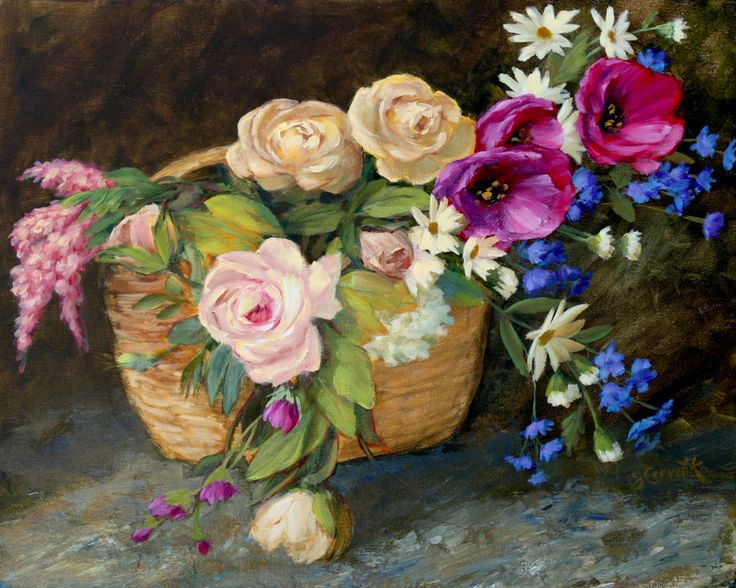 FINEARTSEEN - View Serendipity by Sue Cervenka. A beautiful original still life painting of flowers. Available on FineArtSeen - The Home Of Original Art. Enjoy Free Delivery with every order. >