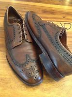Royal Imperial Florsheim Brown Leather Wingtip Shoes 12 B Mens Business Dress