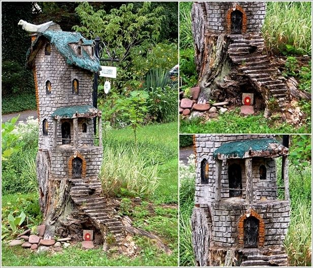 Tree Stump Fairy House (Hmm An Excellent Little House For The Faeries. I  Would Leave All Kinds Of Treats For Them Around The House, And Have A  Fragrant ...