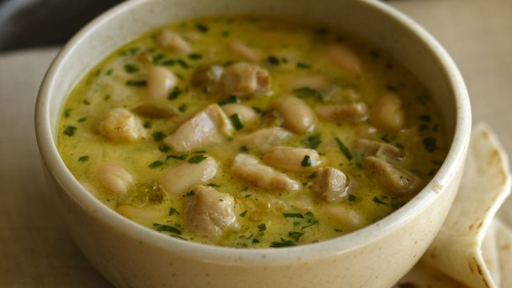 Try a two-bean white chicken chili recipe from the Pillsbury Test Kitchens Chili…