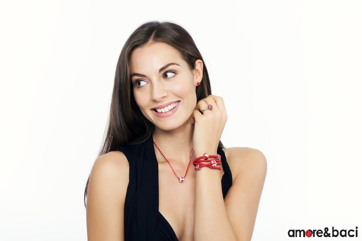 Amore & Baci 2013 campaign - RED beads - necklace, bracelets, ring, earrings