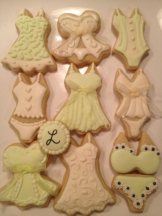 Lingerie Shower Cookies valentine's Day by 4theloveofcookies, $32.50