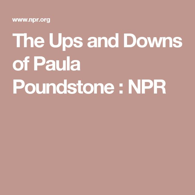 The Ups and Downs of Paula Poundstone : NPR