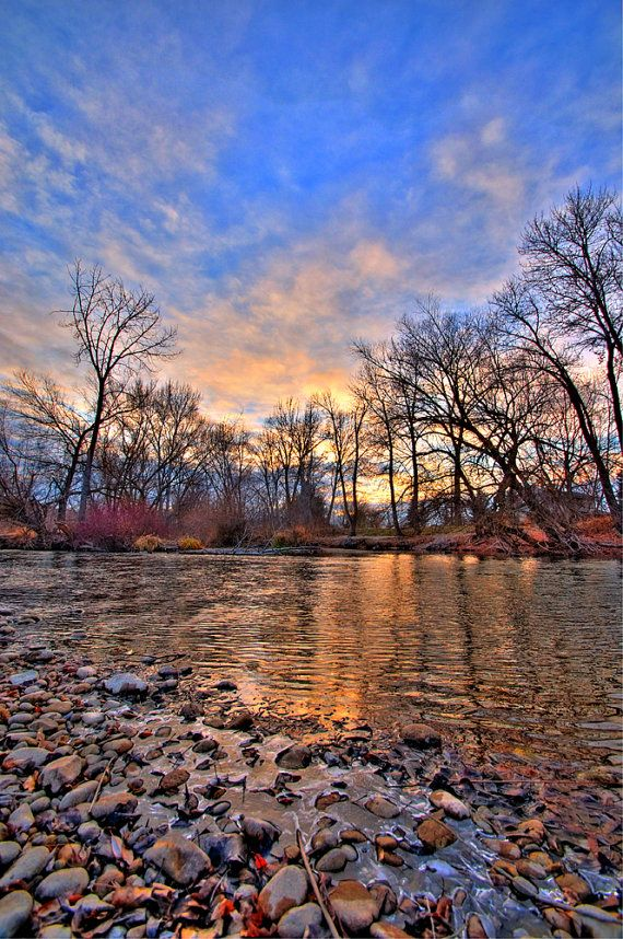 Winter Sunset on the Boise River 2 Boise Idaho, a photographic print by renowned photographer David Ryan on Etsy ($25)