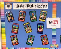 Insta-First Graders: An Instagram Themed Bulletin Board for Back To School