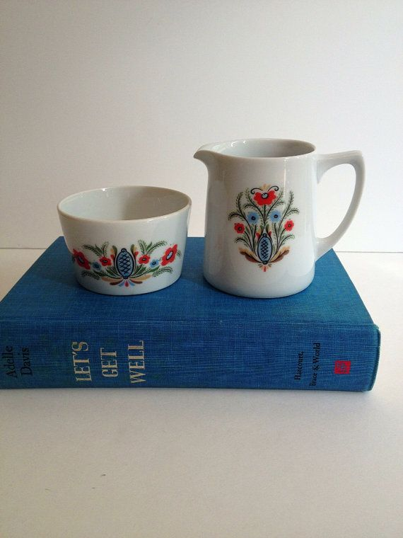 Vintage  Berggren / Sugar and Creamer Set / by MelbaMoon on Etsy, $20.00