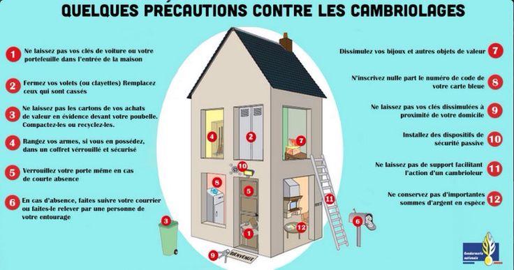 Conseils: Les bons réflexes contre les cambriolages. http://mobile.interieur.gouv.fr/A-votre-service/Ma-securite/Conseils-pratiques/Mon-domicile/Contre-les-cambriolages-ayez-les-bons-reflexes