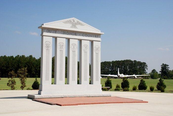 Veterans Memorial War Monument at Georgia Veterans State Park in Cordele, Georgia