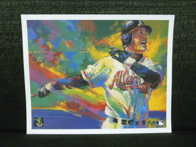 Chipper Jones MLB Players Choice Open Edition Atlanta Braves Lithograph