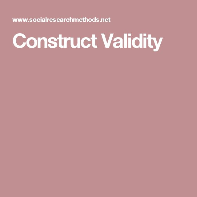 The  Best Construct Validity Ideas On   English