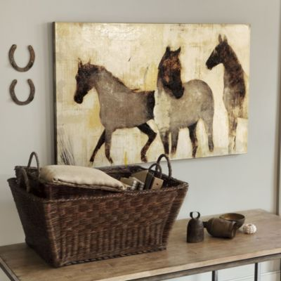 I love the rustic feel of this piece--Horses at Rest Giclee Print by Carolina artist Patrick Wright