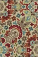"""This+charming+transitional+area+rug+has+an+alluring+appeal+that+will+bring+compliments.+The+lacy+floral+pattern+is+infused+with+color+and+can+be+utilized+for+contemporary+to+traditional+themes.+Snowy+ivory+background+with+cranberry+red,+espresso+brown,+pear+green,+teal+blue,+ecru+gold,+mushroom+taupe,+and+russet.+Machine+made+of+soft+polypropylene+that+is+naturally+stain-resistant+and+easy+to+maintain.+The+three+piece+set+includes+a+5'+x+7',+1'8""""+x+5'+and+a+1'8""""+x+2'8""""."""