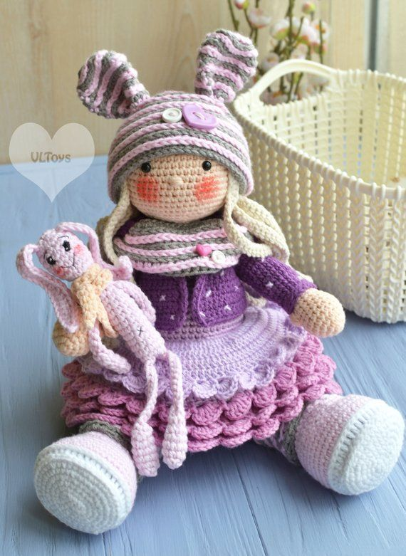 Tilda doll crochet (Only Body) without clothes | 781x570