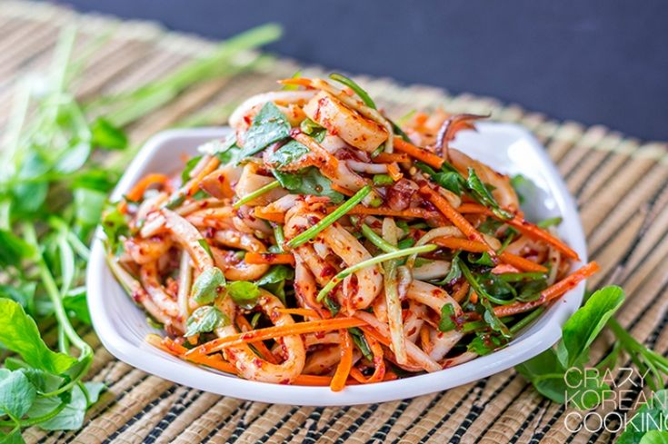 Spicy squid salad, Ojinguh chomuchim