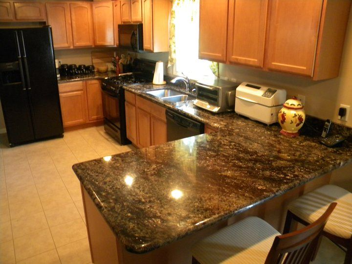 granite countertops images | Asterisk Granite Countertop, Worcester Ma Kitchen with Asterik Granite ...