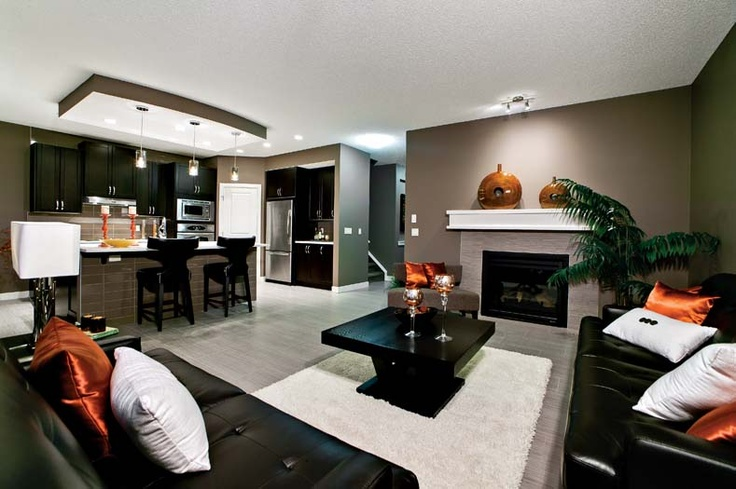 Open main floor in Leera Showhome in Sherwood in NW Calgary, Alberta, by Shane Homes