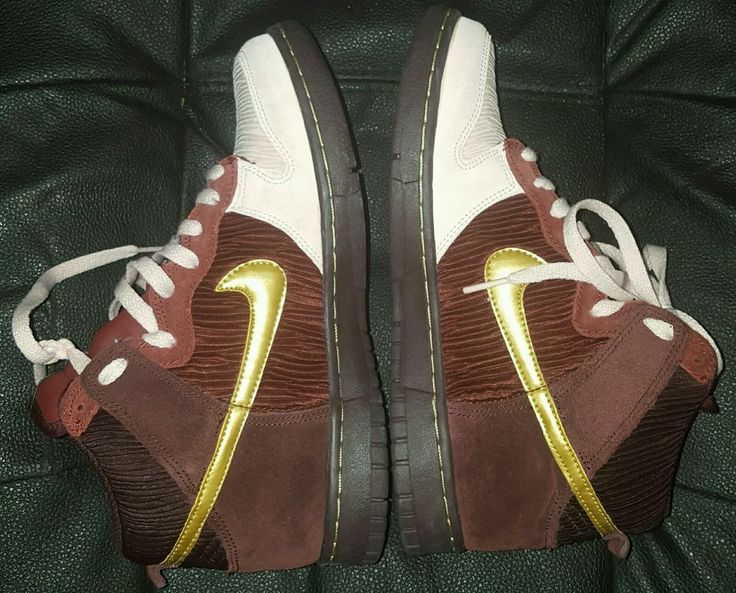 Nike Air Dunk High Burgundy Pink Gold Size 6 Youth - 316604-671 #Nike
