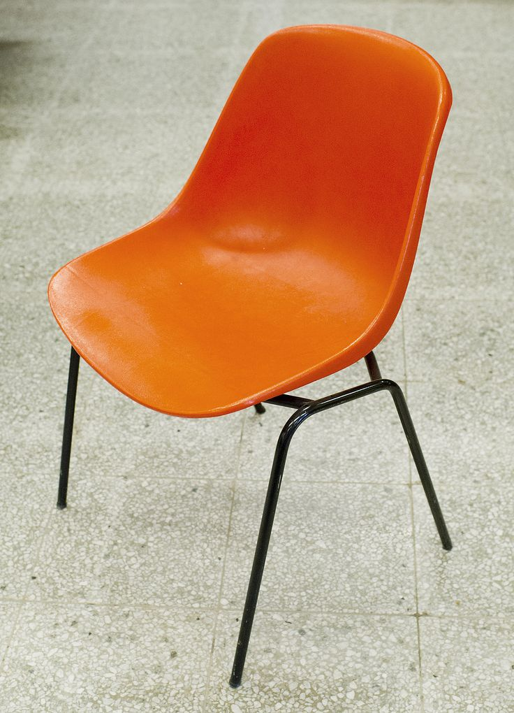 Eero Aarnio 'Polaris' plastic chair.