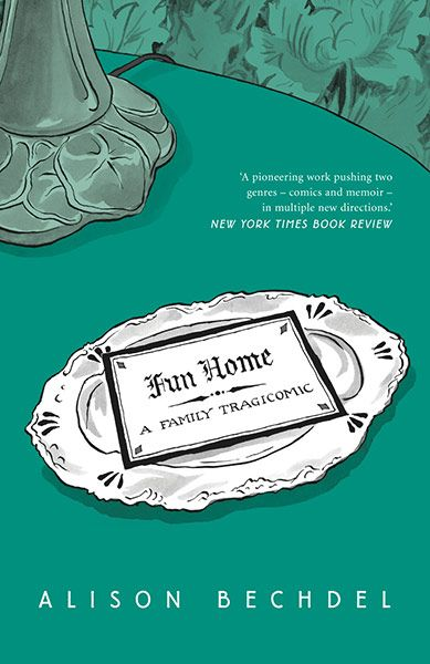Fun home - a family tragicomic by Alison Bechdel. Dansk titel: Bedemandens datter. Graphic novel.