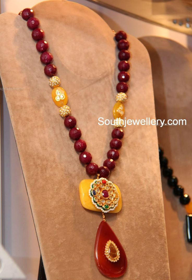 Trendy beads fashion necklace designs with colorful beads. Related PostsLavender Pachi Pendant Necklace SetPinky Reddy in Crystal Balls NecklaceSuhasini Maniratnam in Green Beads NecklaceCoral Branch Beads NecklaceOne Gram Gold Long ChainOne Gram Gold Jewellery @ Grand Luxury Lifestyle Exhibition