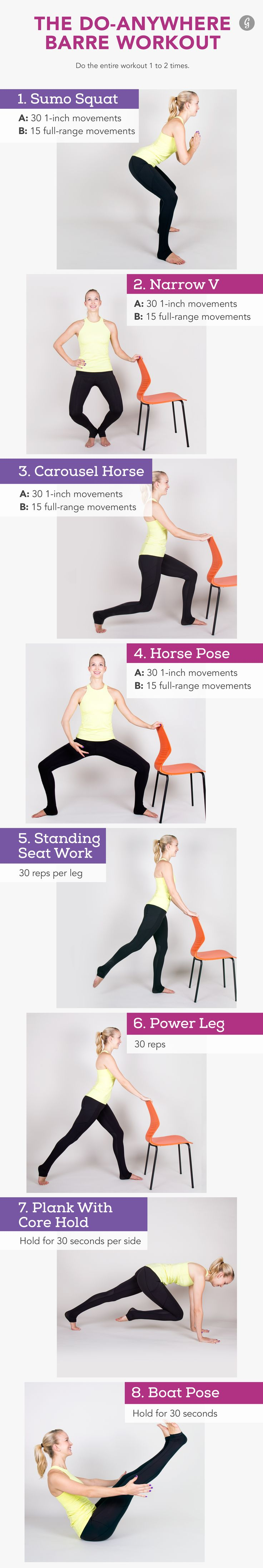 The 15-Minute Barre Workout You Can Do at Home #barre #workout #fitness