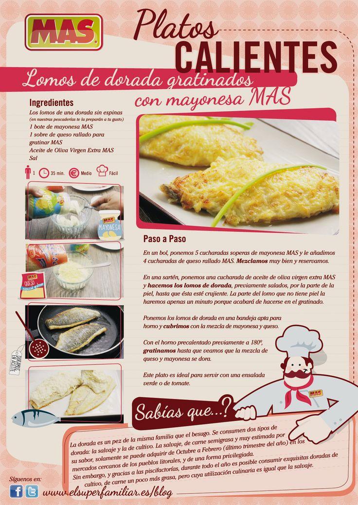lomos de #dorada gratinados con Mayonesa