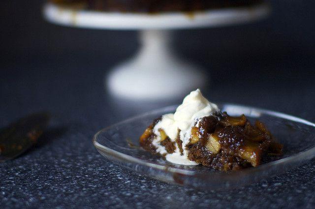 gingerbread apple upside-down cake | smitten kitchen