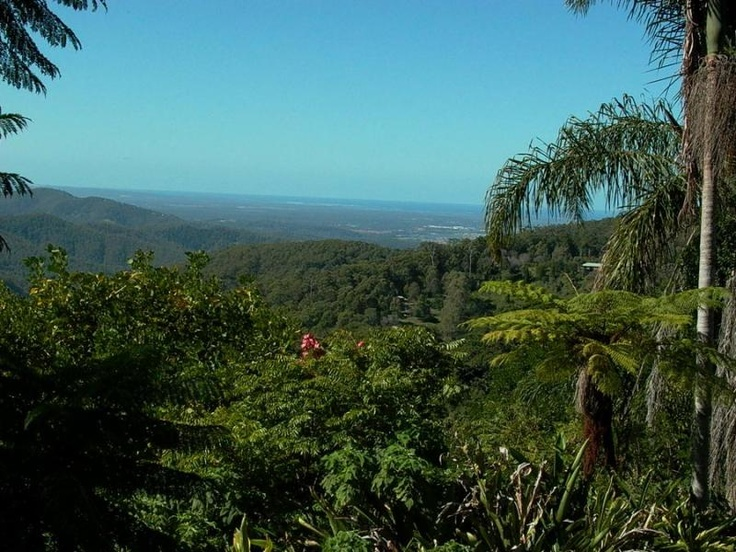 The view from St Bernards Hotel on Mount Tambourine - breathtaking