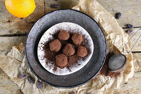 Lahodné čokoládové lanýže voní po pomerančích a kvalitním kakau
