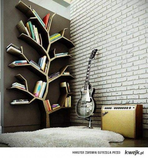 Bookcase tree. That is just freakin' cool.