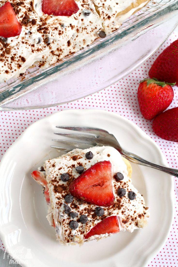 Strawberry Cannoli Tiramisu Italian Desserts Strawberry Cannoli Desserts